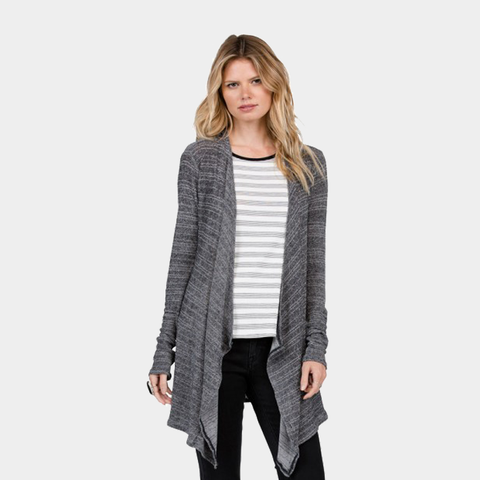 Lived in Go Wrap Cardigan | Black