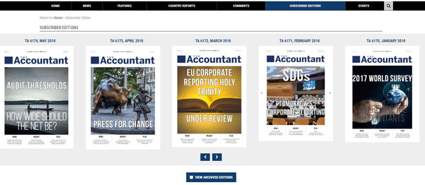 The Accountant Subscription - 12 Months - ACCOUNTEX OFFER - For Industry Accountants Only