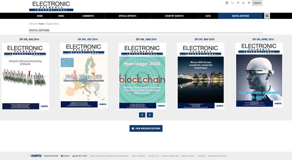 Electronic Payments International - 12 month online subscription