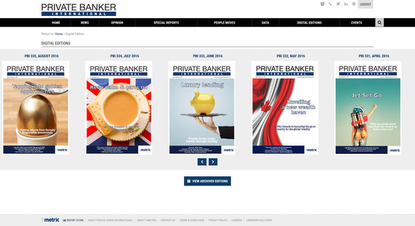 Private Banker International - 12 month online subscription