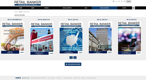 Retail Banker International - 12 Month Subscription (Single User - Online Only)