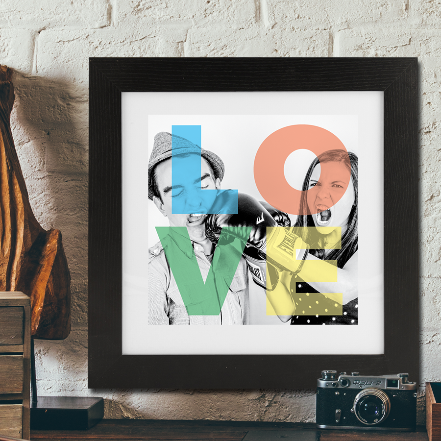 Multicolour Love Framed Print