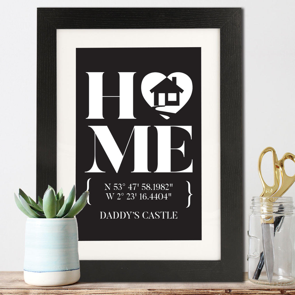 Longitude And Latitude Family Framed Print - Instajunction