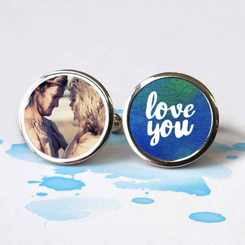 'Love You' Photo Cufflinks - Instajunction