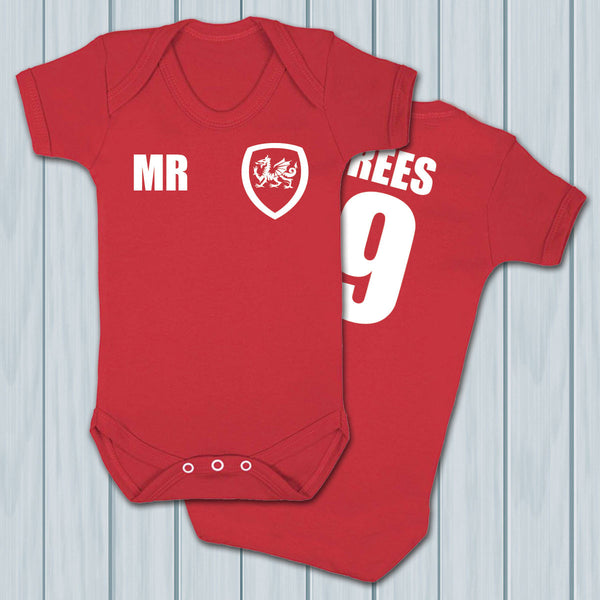 Wales Football Supporters Babygrows - Instajunction