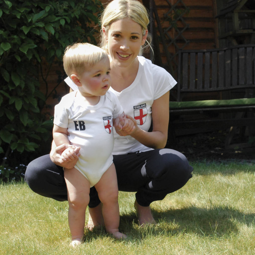 Adult And Baby England Supporter Tees - Instajunction