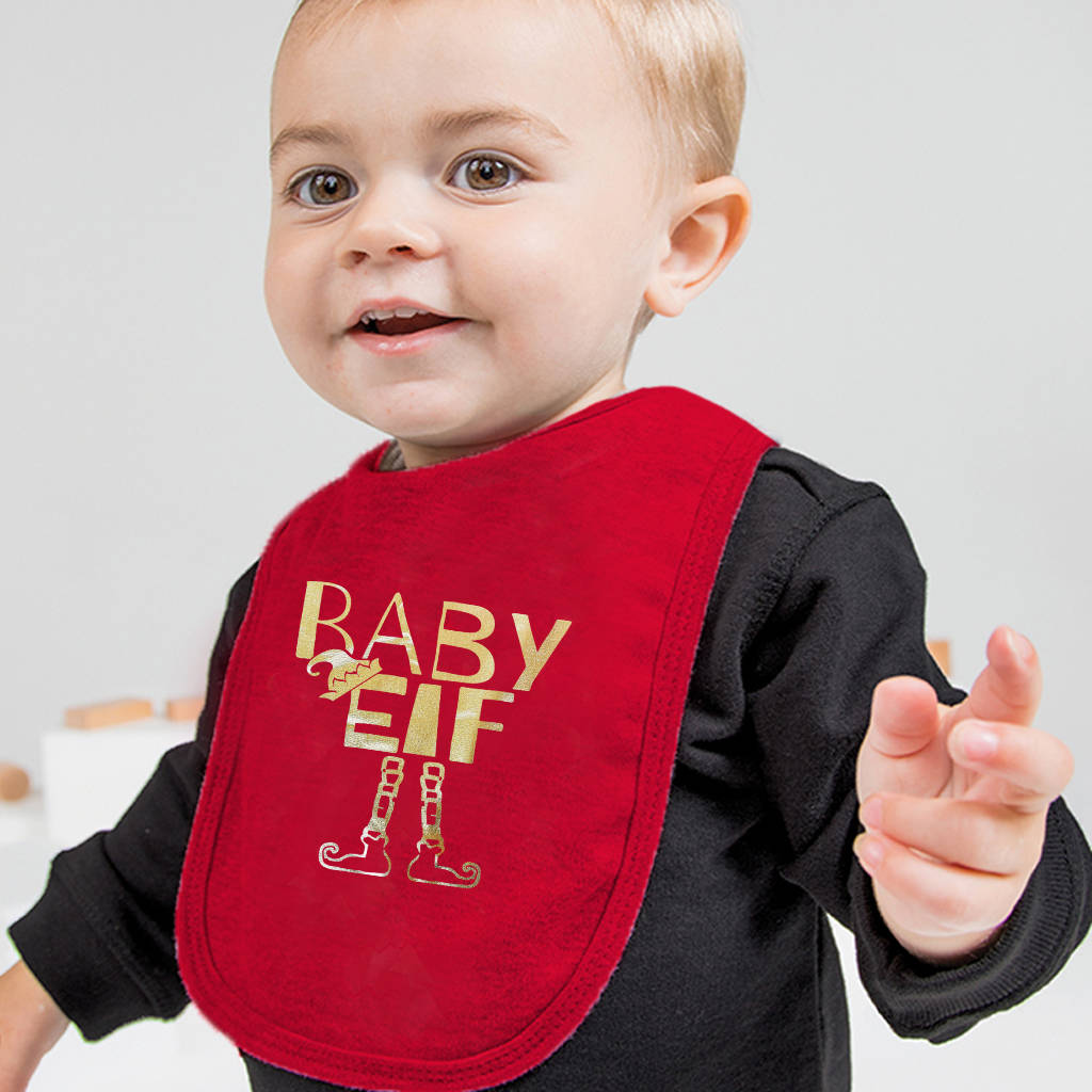 Baby Elf Christmas Bib - Instajunction