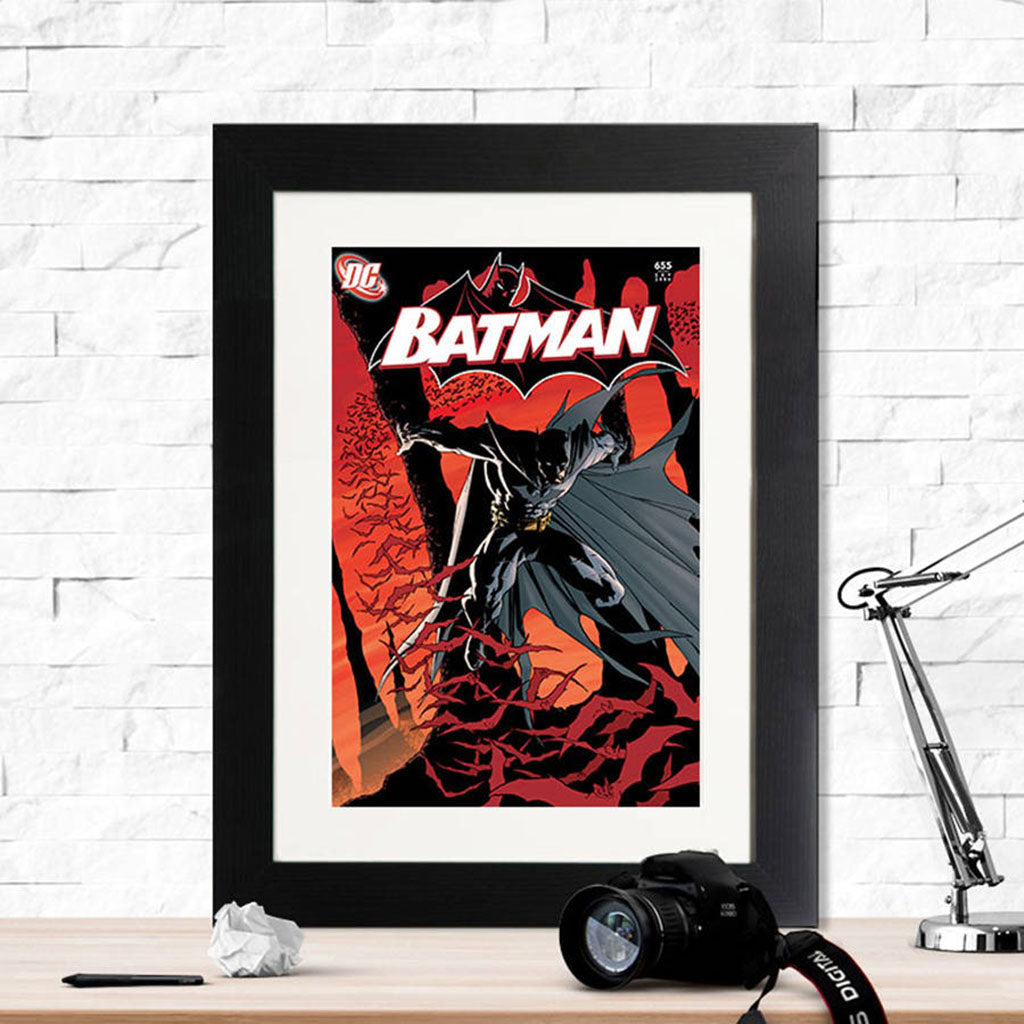 Batman Jumps Retro Framed Print - Instajunction