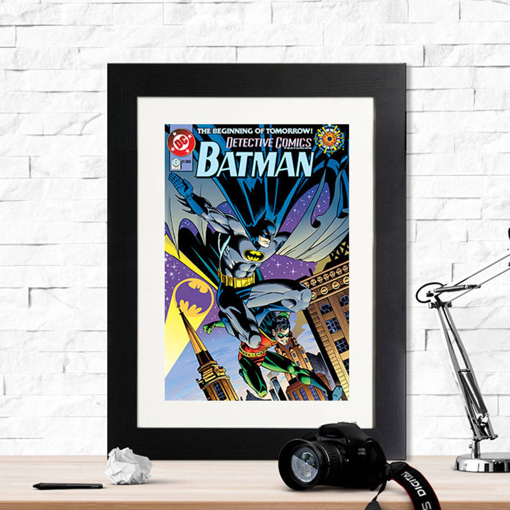 Batman The Beginning Of Tomorrow Retro Framed Print - Instajunction