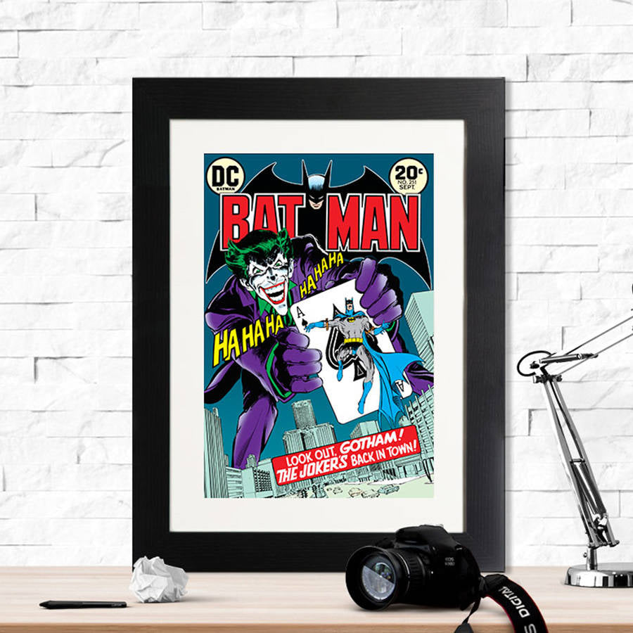 Batman The Joker's Back In Town Retro Print - Instajunction