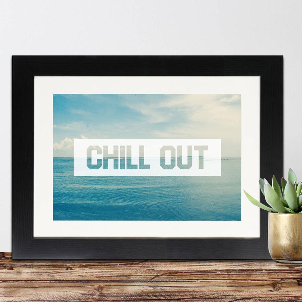 Chill Out Framed Print - Instajunction