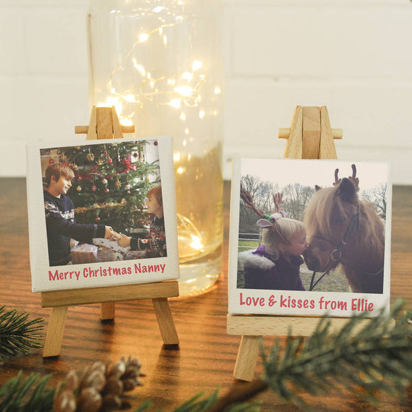 Christmas Mini Personalised Canvas With Easel - Instajunction