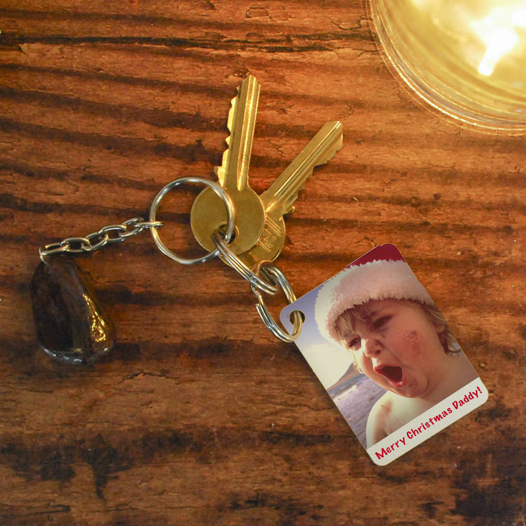 Christmas Photo And Message Keyring - Instajunction