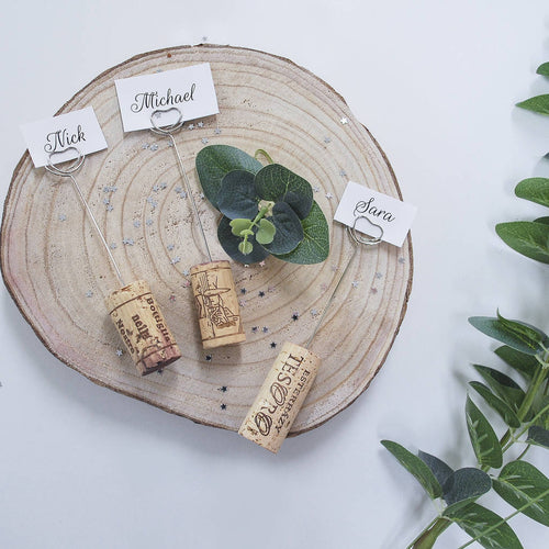 Cork Wedding Place Setting Holders - Instajunction