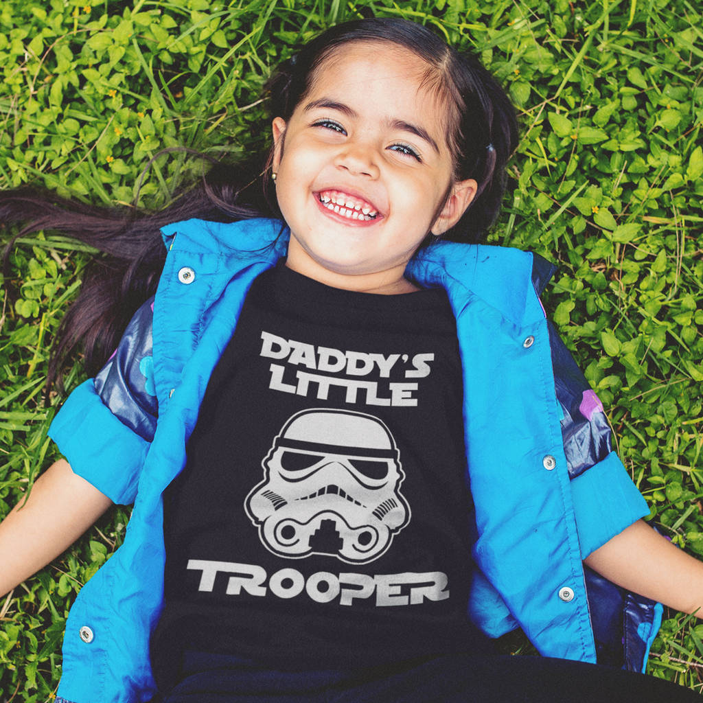 Daddy's Little Trooper Kid's T-Shirt - Instajunction