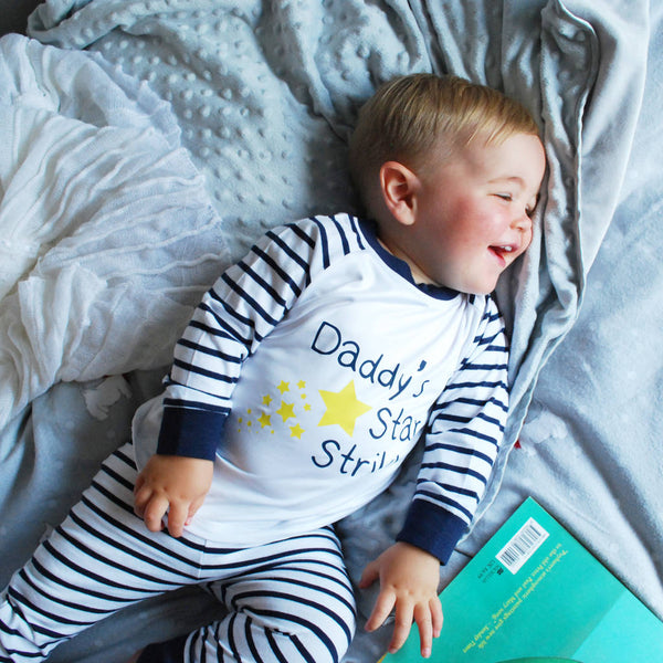 Daddy's Star Striker Striped Pyjamas - Instajunction
