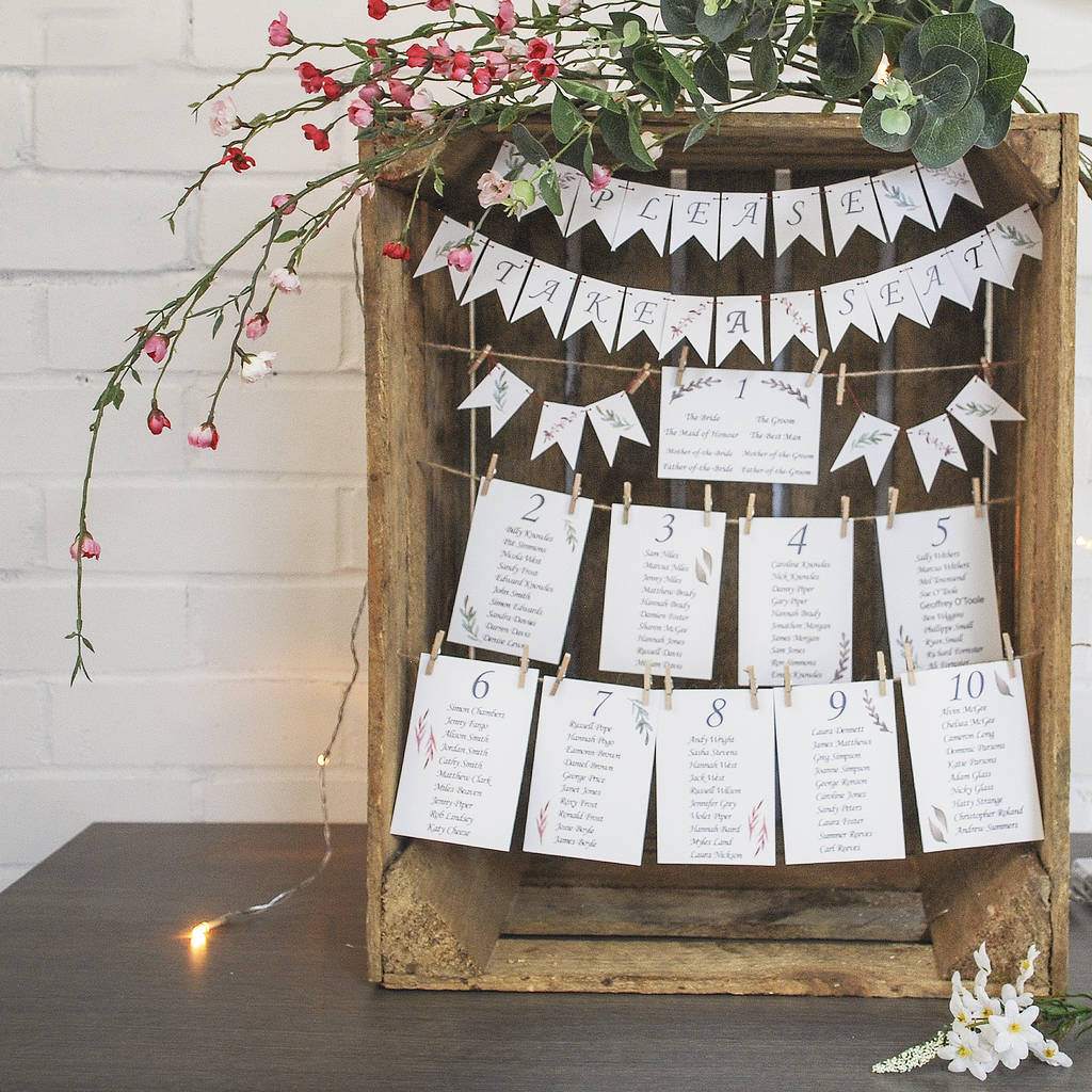 Personalised Crate Wedding Table Plan - Instajunction