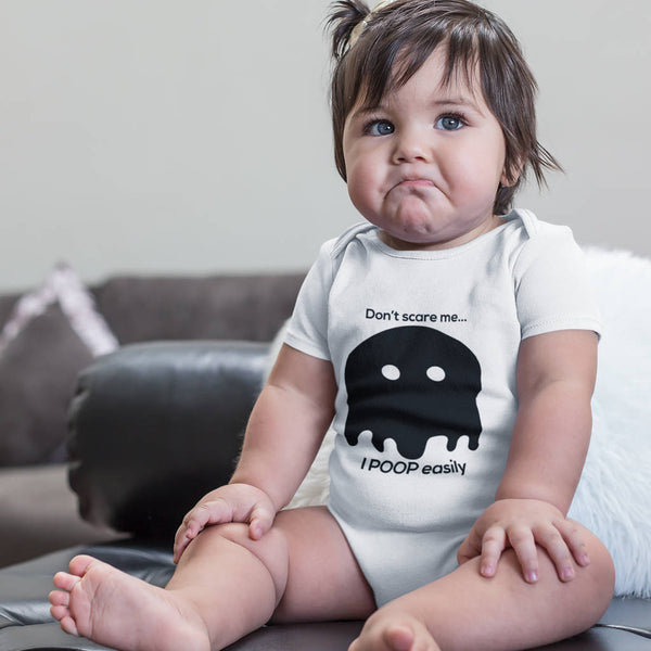 Don't Scare Me…Poop Easily Babygrow - Instajunction