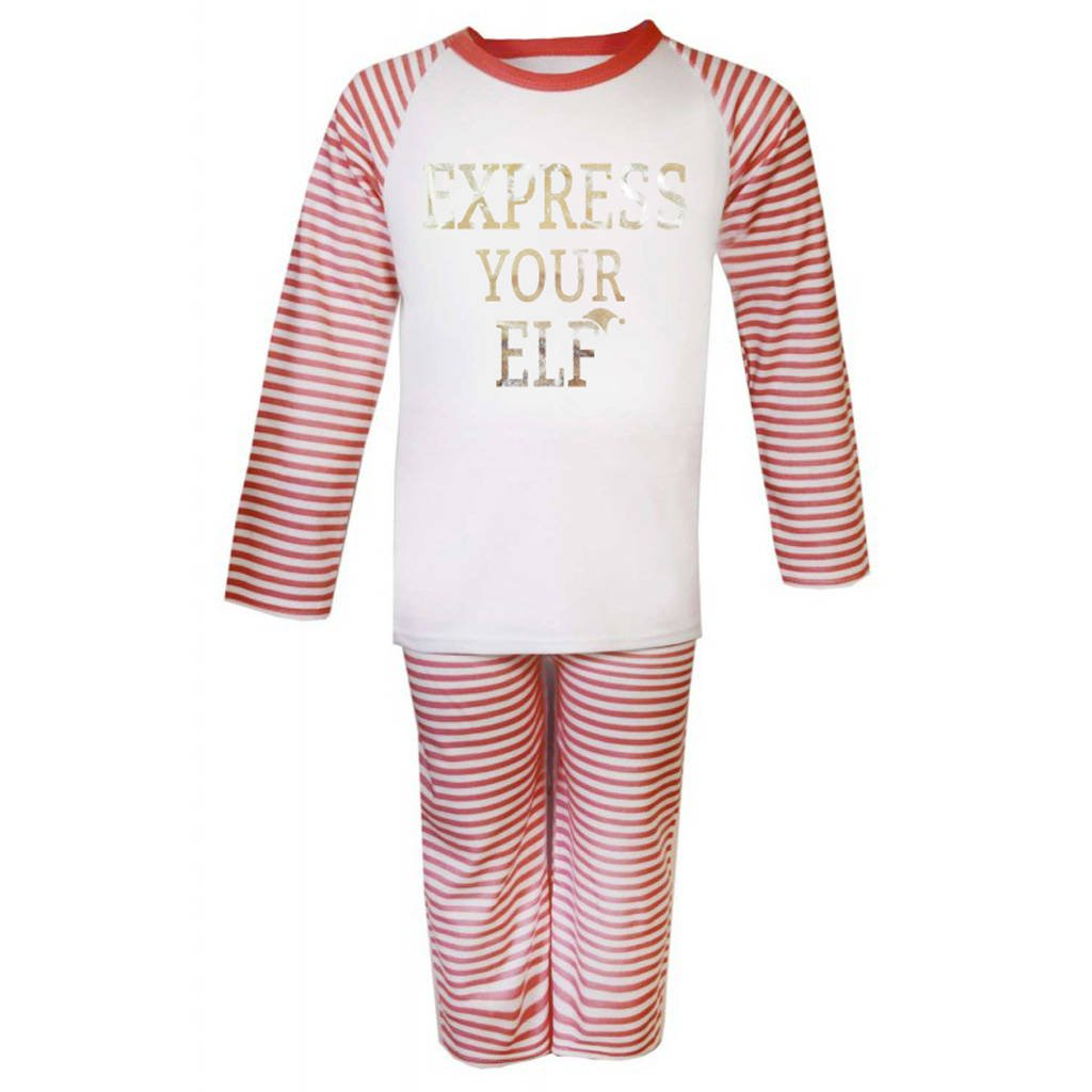 Express Your Elf Kid's Christmas Pyjamas - Instajunction