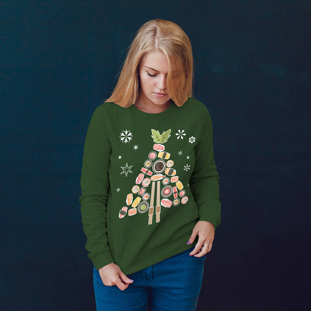 Festive Love Sushi Christmas Jumper - Instajunction