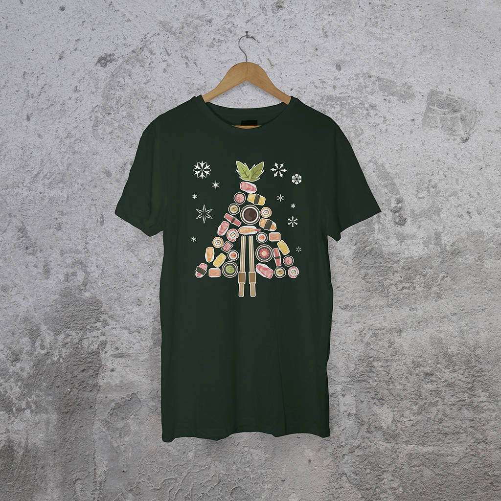 Festive Love Sushi Christmas T-Shirt - Instajunction
