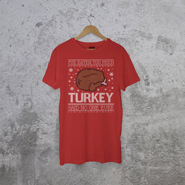 Personalised I Ate Too Much… Christmas T-Shirt - Instajunction