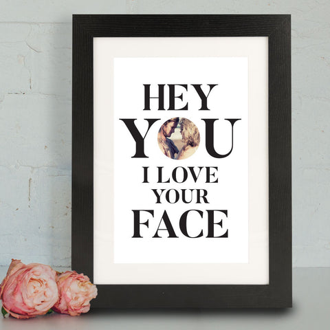 'I Love Your Face' Framed Print