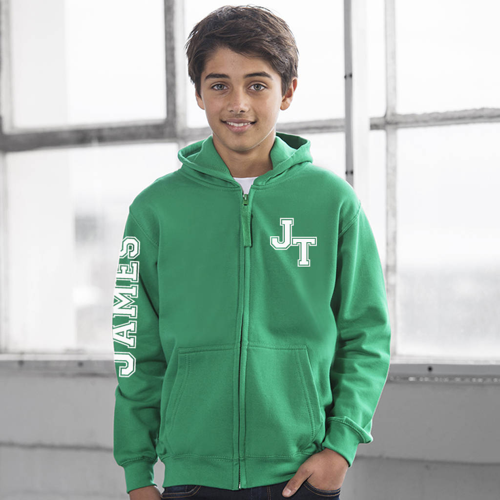 Kid's Monogram Personalised Hoodie - Instajunction