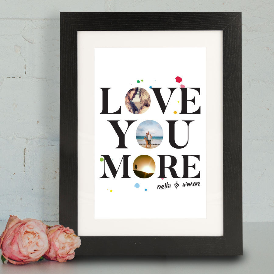 'Love You More' Framed Print - Instajunction