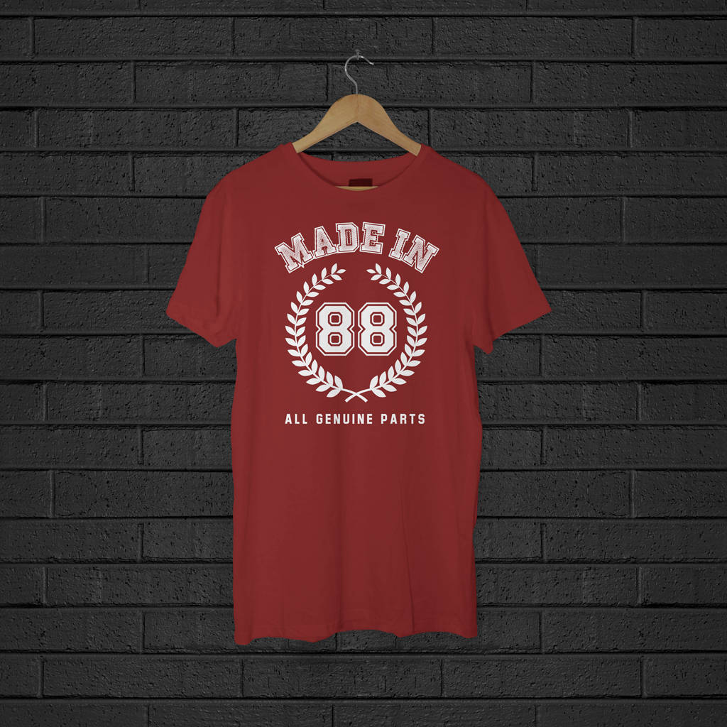 Adults Personalised Made In Years T-Shirt - Instajunction