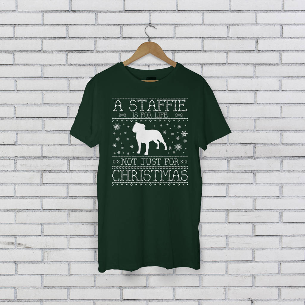 Personalised A Dog Is For Life Christmas T-Shirt - Instajunction
