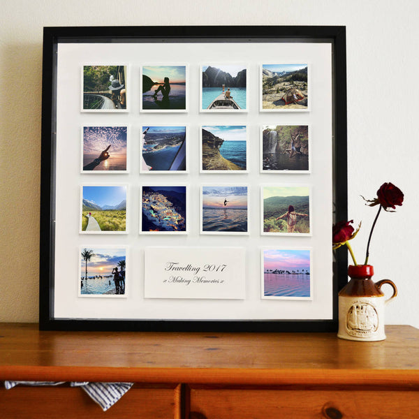 Personalised Block Photo And Message 3D Framed Print - Instajunction