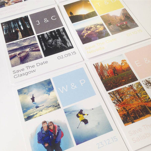 Personalised Block Photo 'Save The Date' Cards - Instajunction