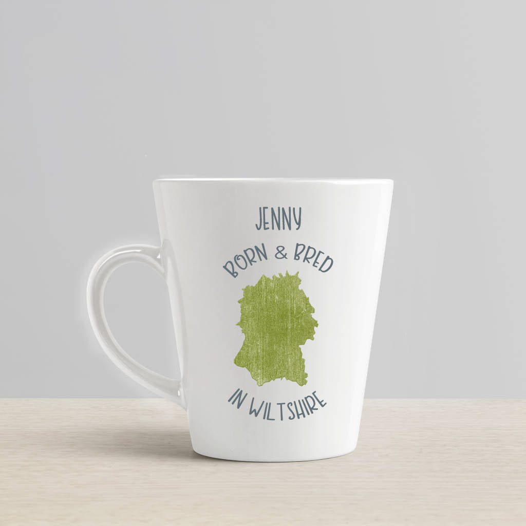 Personalised 'Born And Bred In..' Latte Mug - Instajunction