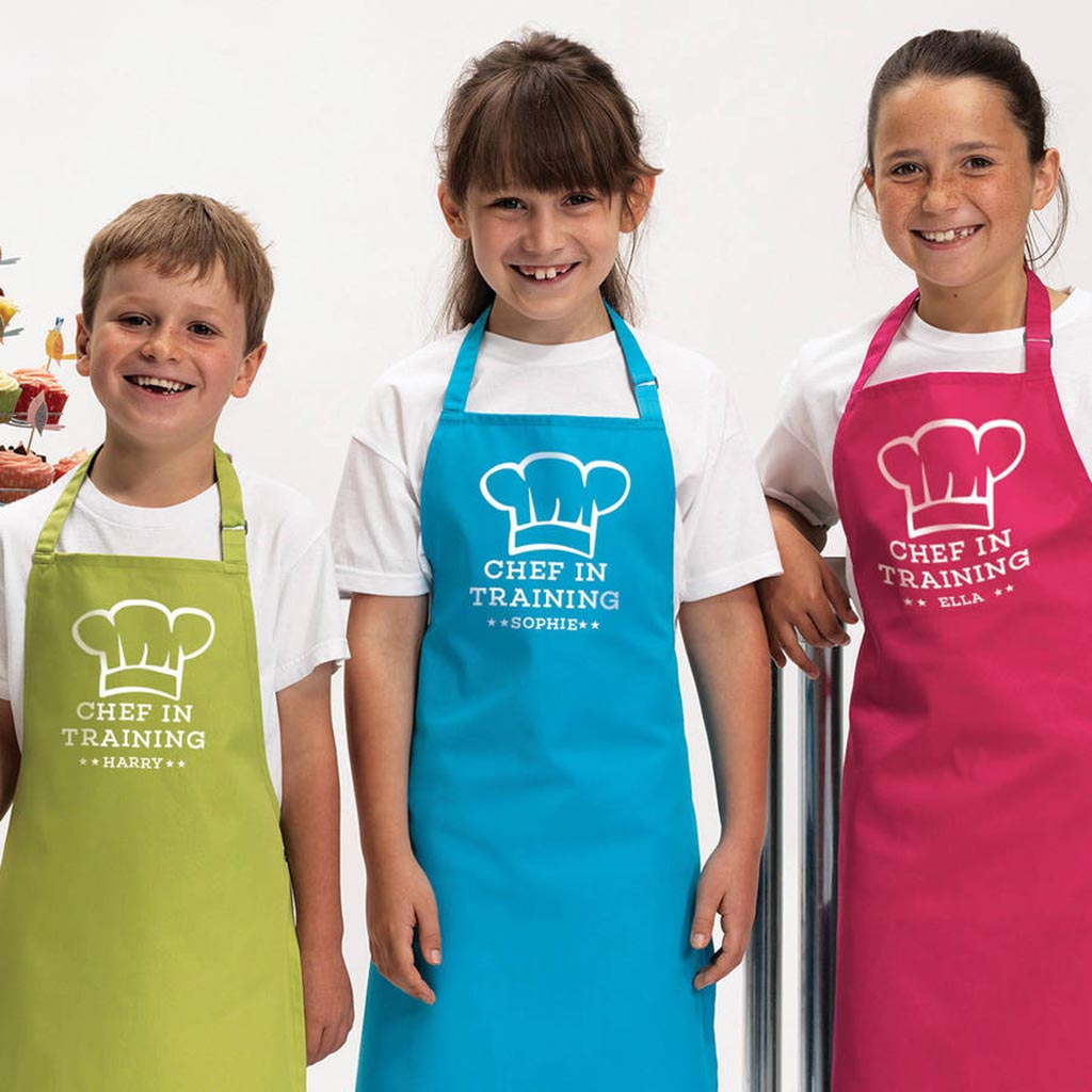 Personalised 'Chef In Training' Kids Aprons
