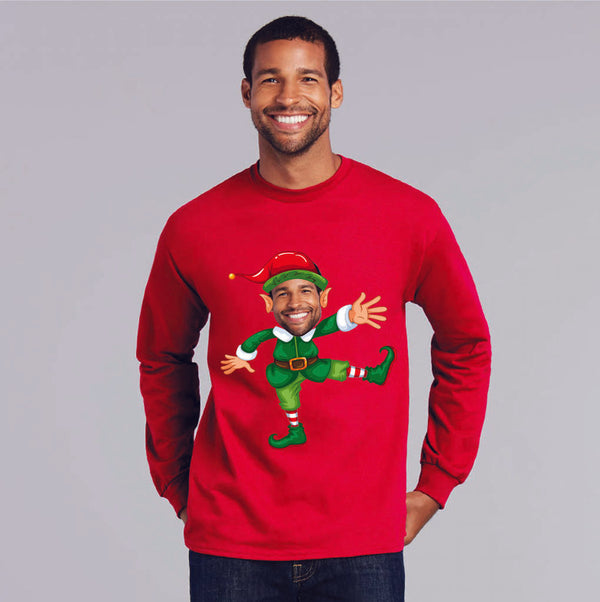 Personalised Elf Christmas Sweatshirt - Instajunction