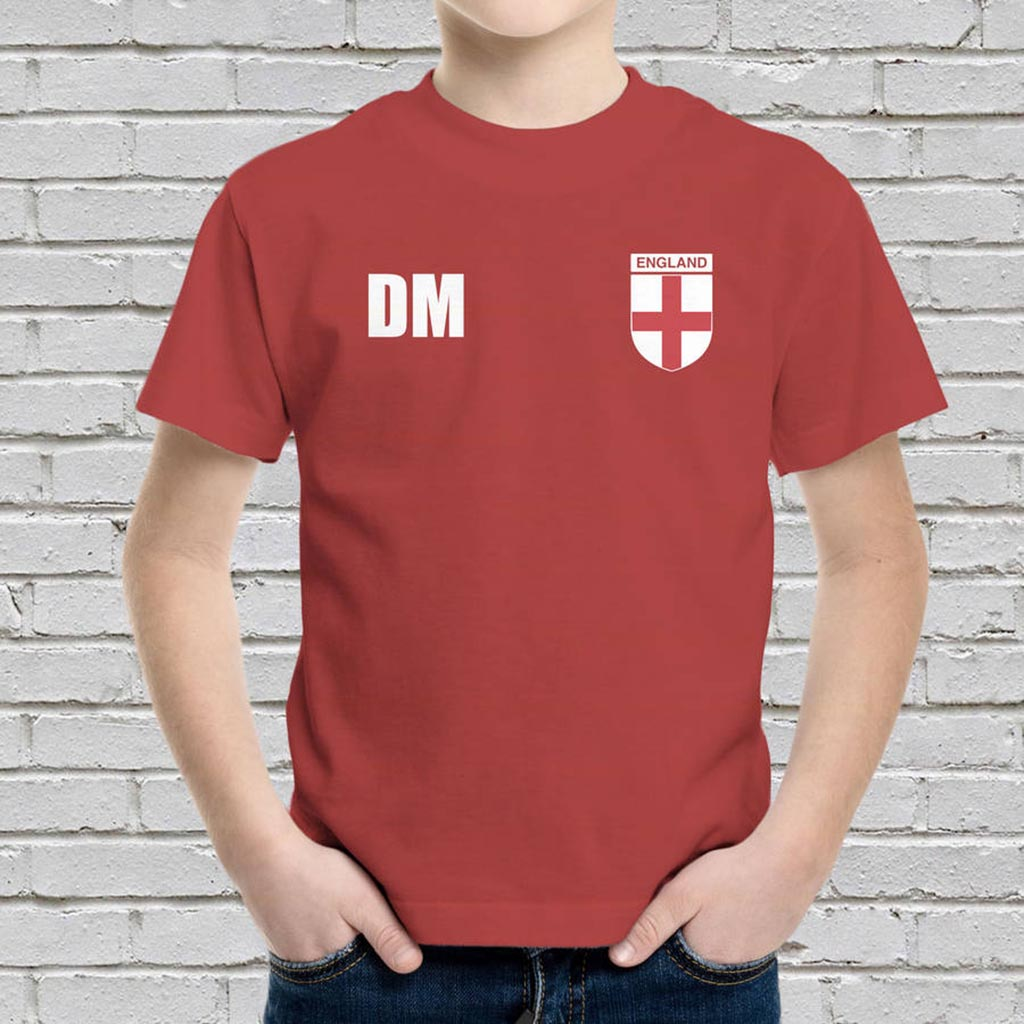 Personalised England Football Supporters Kids T-Shirt