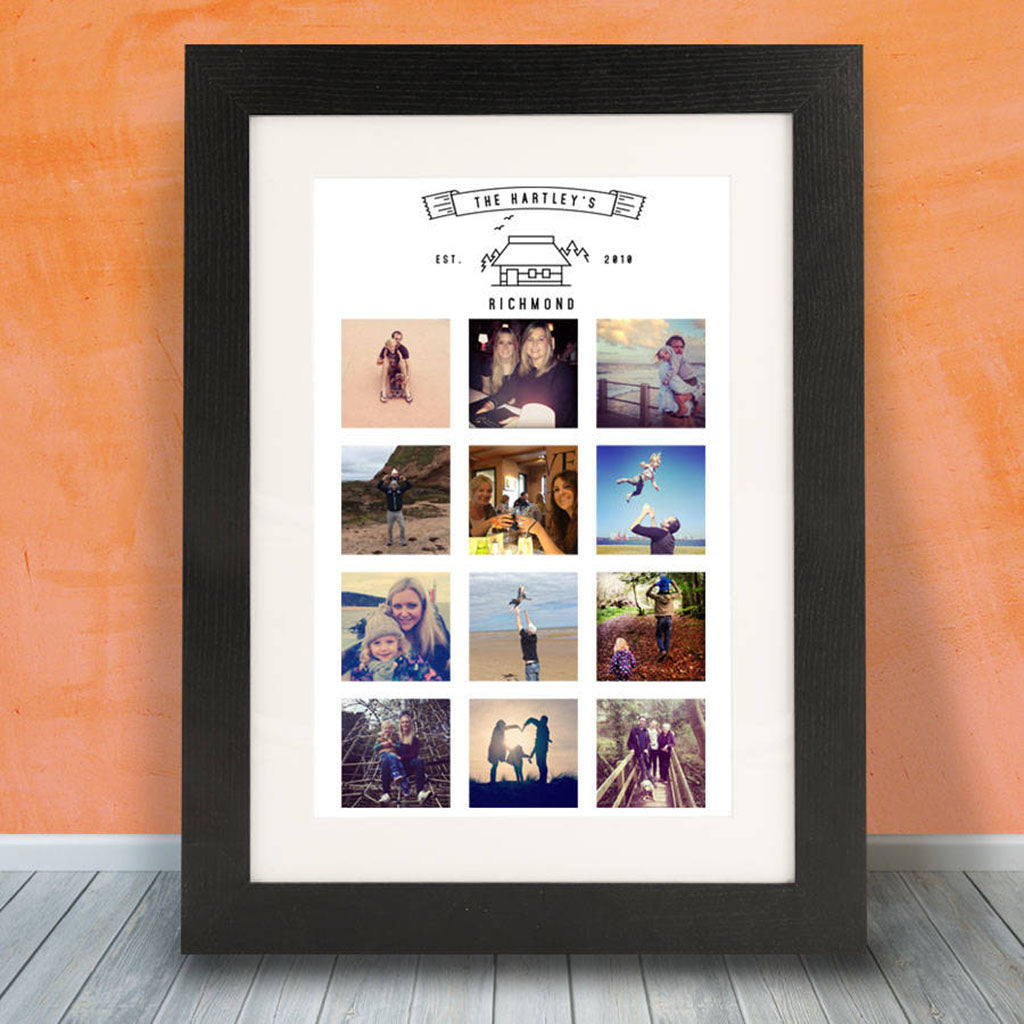 Personalised Family Home Photo Framed Print - Instajunction