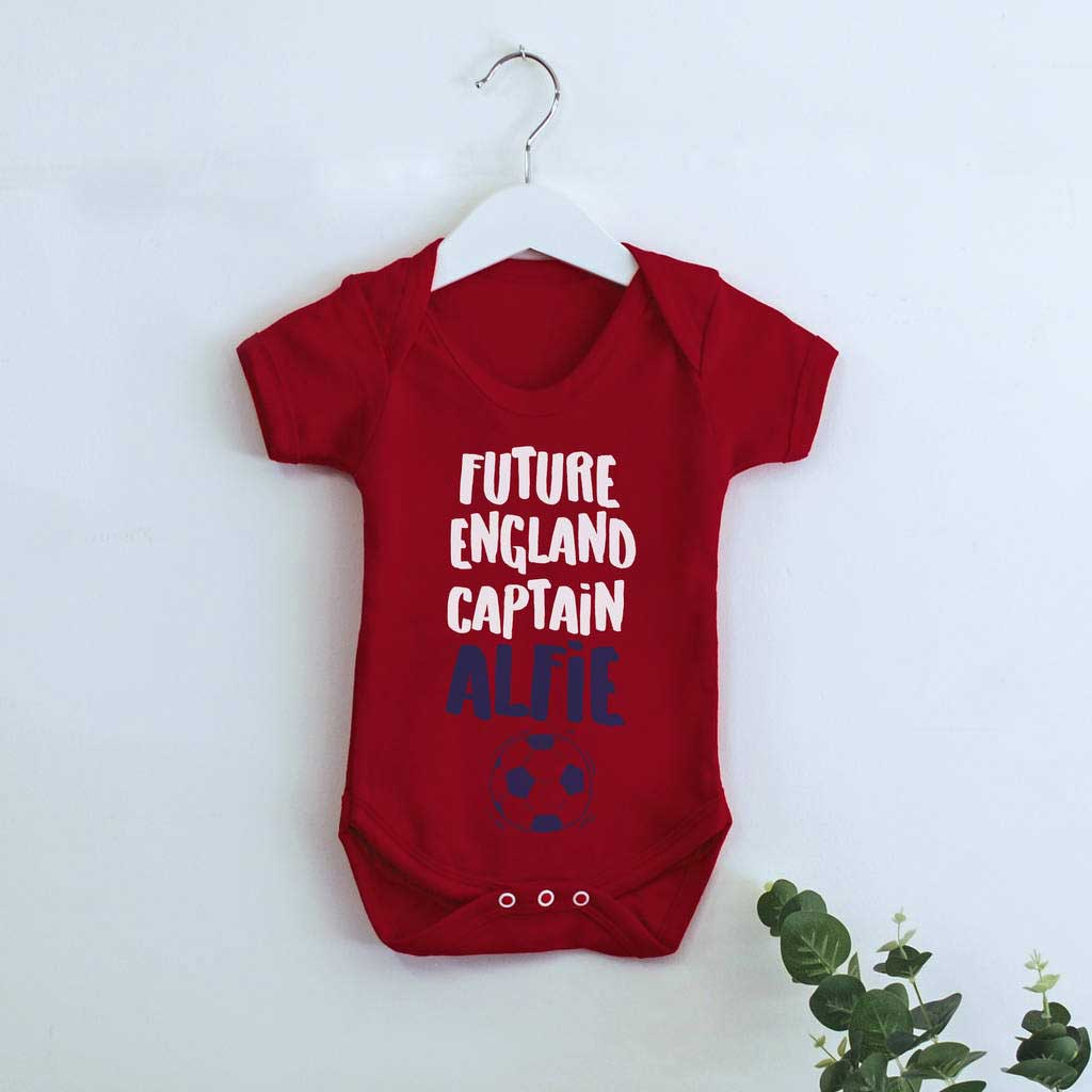 Personalised Future England Captain Babygrow - Instajunction