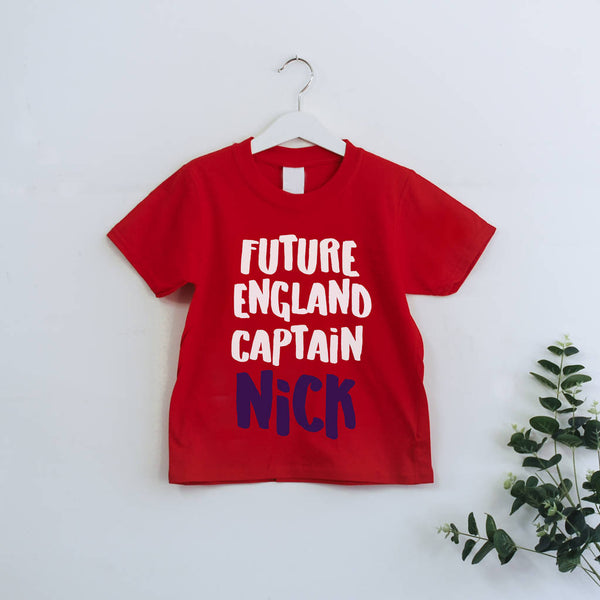 Personalised Future England Captain Kids Tee - Instajunction