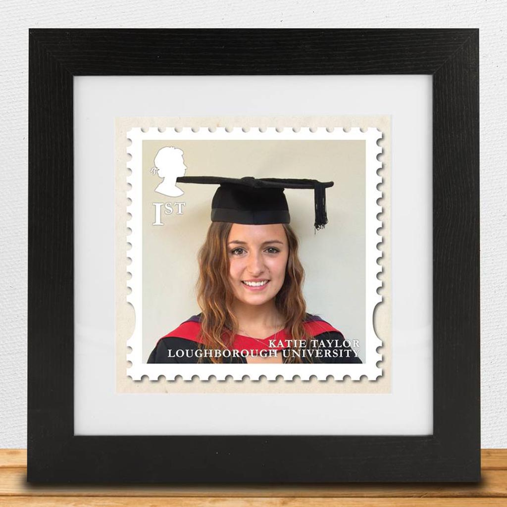 Personalised Graduation 'Stamp Style' Framed Print