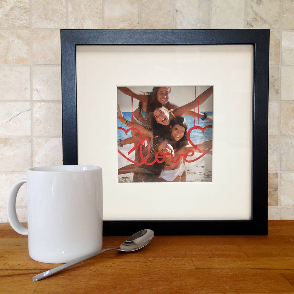 Personalised Hanging Message 3D Photo Frame - Instajunction