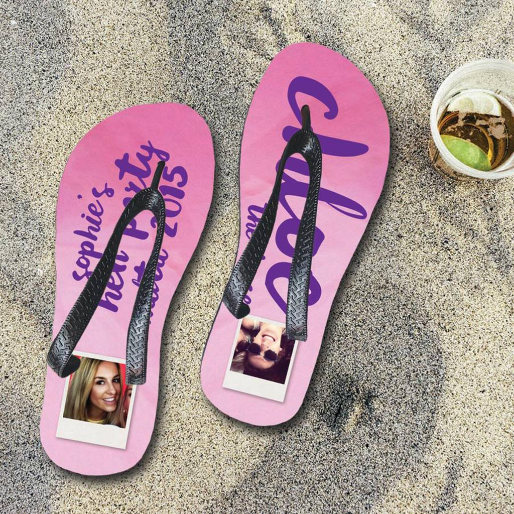 Personalised Hen Party Flip Flops