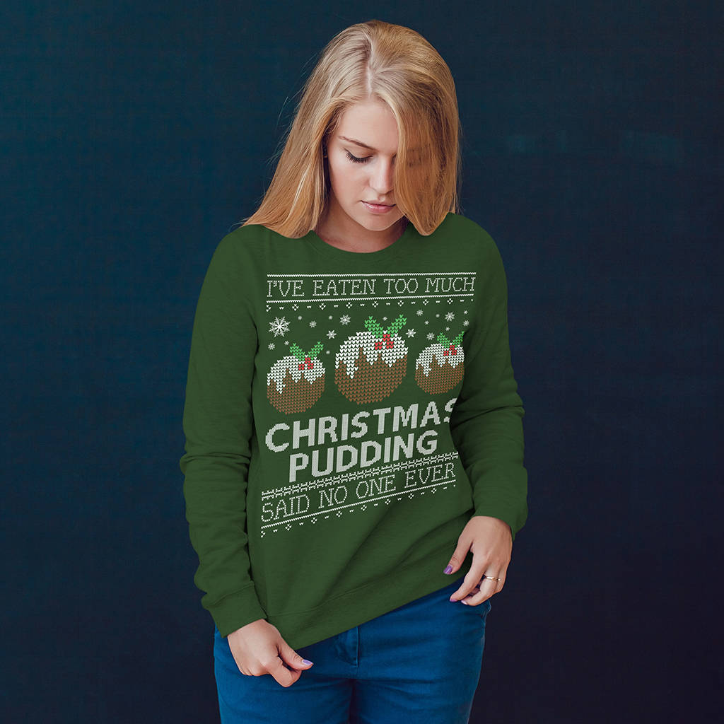 Personalised I Ate Too Much… Christmas Jumper - Instajunction