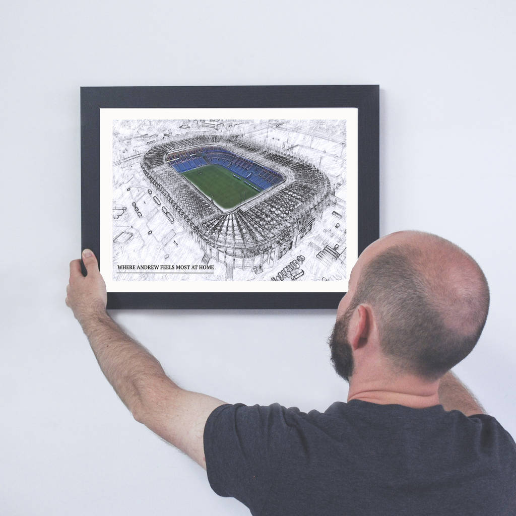 Personalised Illustrated Rugby Stadium Framed Print - Instajunction