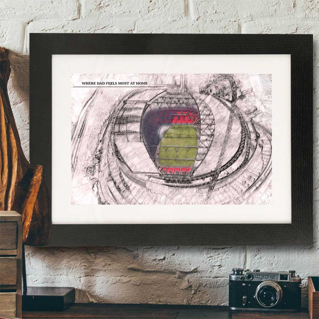 Personalised Illustrated Wembley Stadium Print - Instajunction