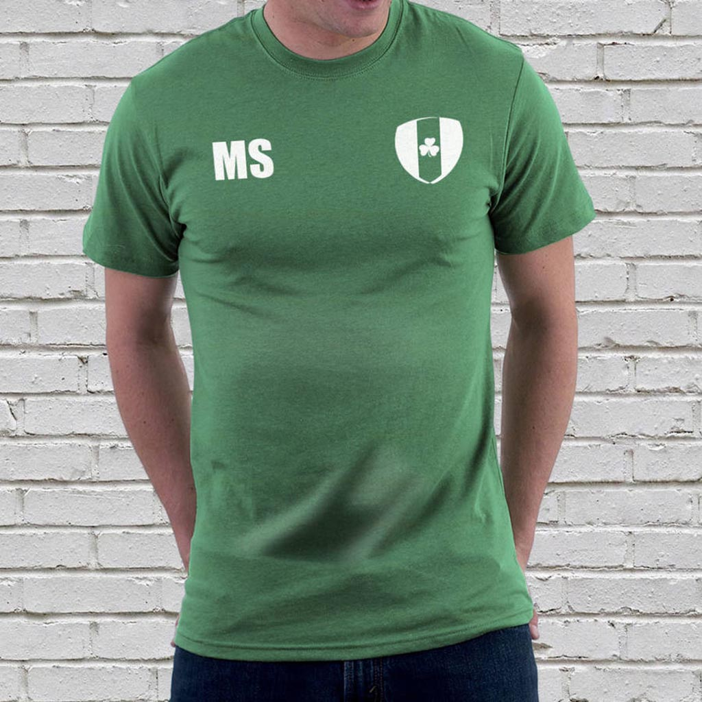 Personalised Ireland Football Supporters Mens Tees