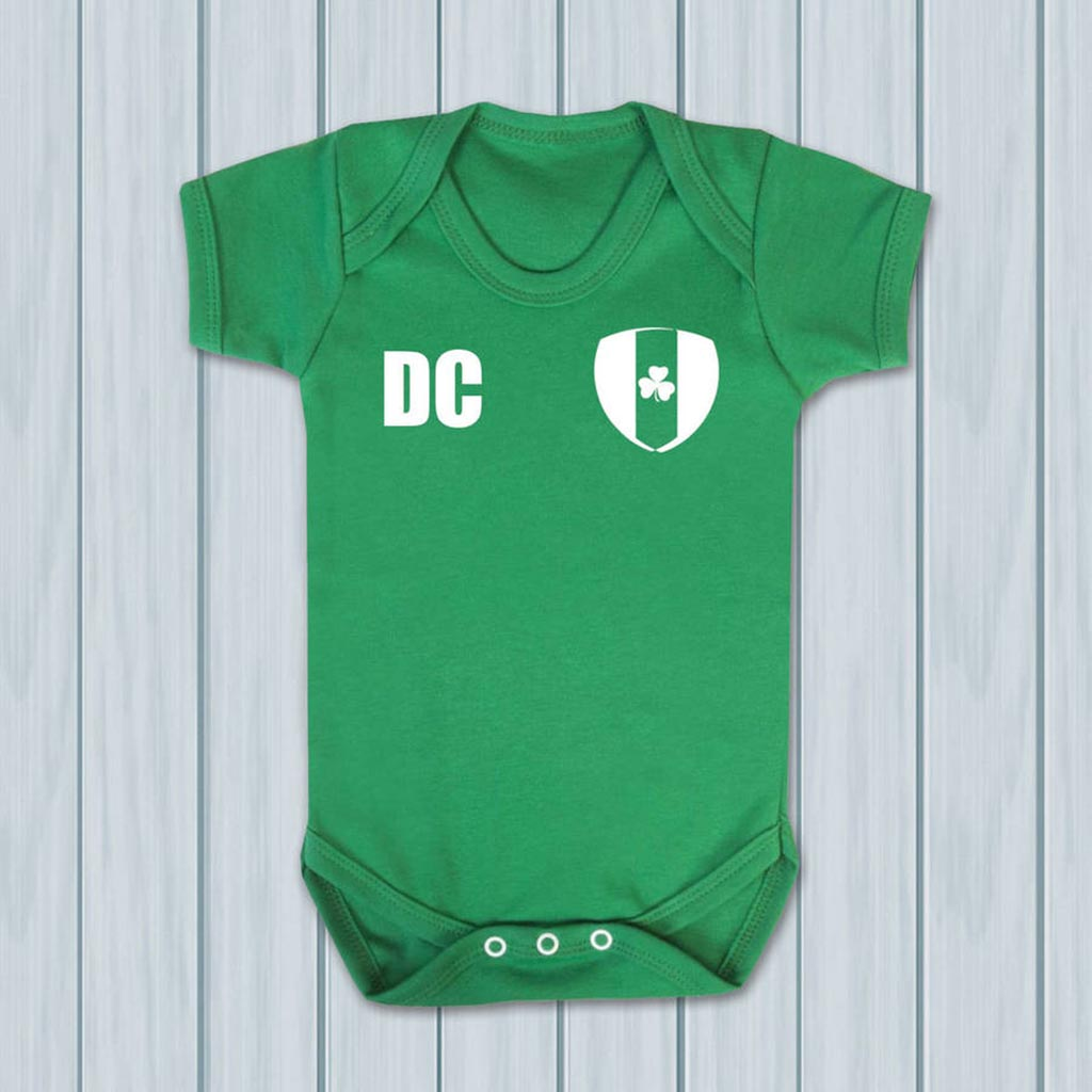 Personalised Ireland Football Supporters Babygrows