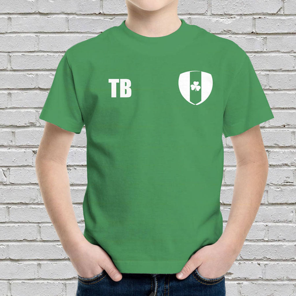 Personalised Ireland Football Supporters Kids T-Shirt