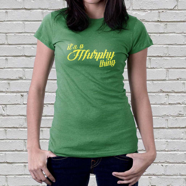 Personalised 'It's A Surname Thing' Women's T Shirt